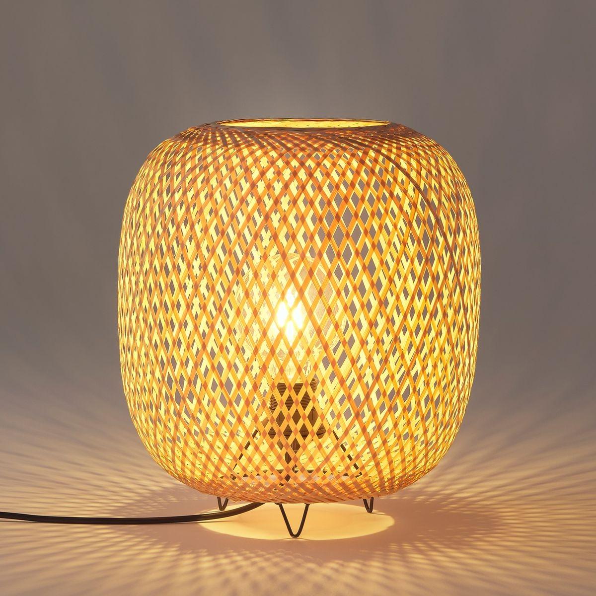 Lampe à poser en bambou, Katia