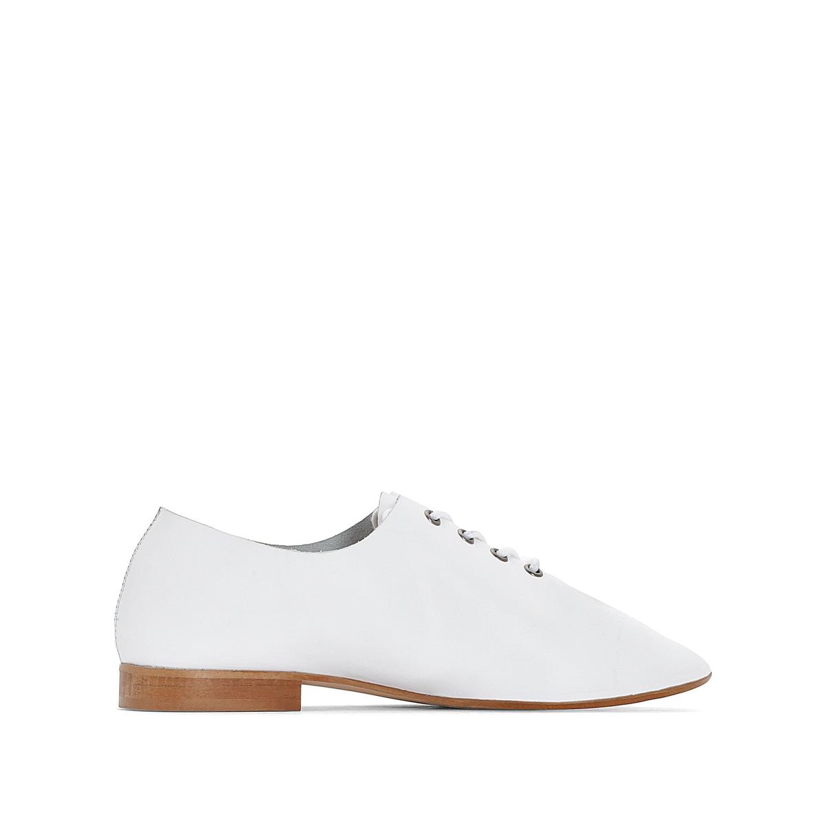 Ботинки-дерби кожаные белые ботинки дерби под кожу питона