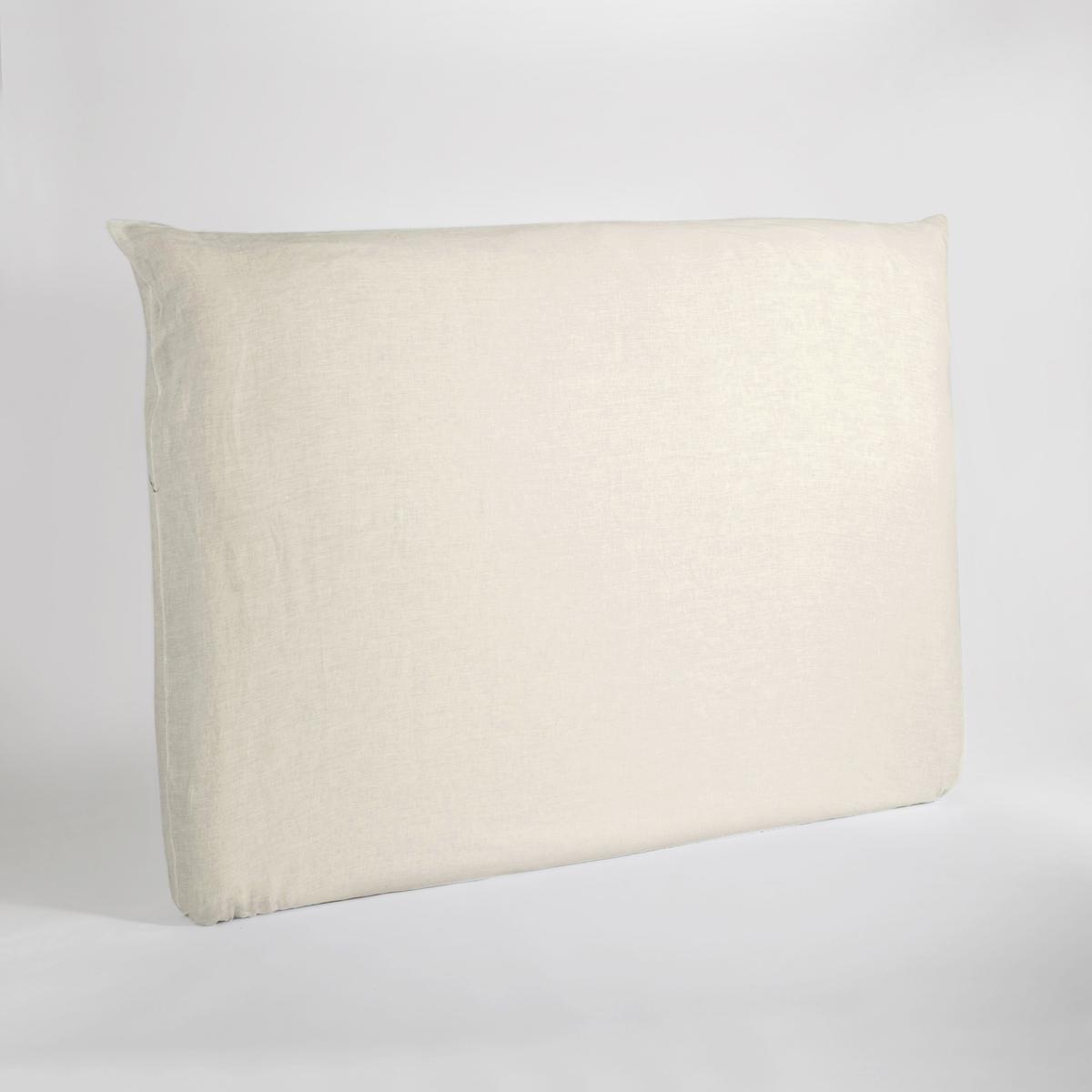 Чехол LaRedoute На изголовье кровати из осветленного льна Mereson 160 см бежевый