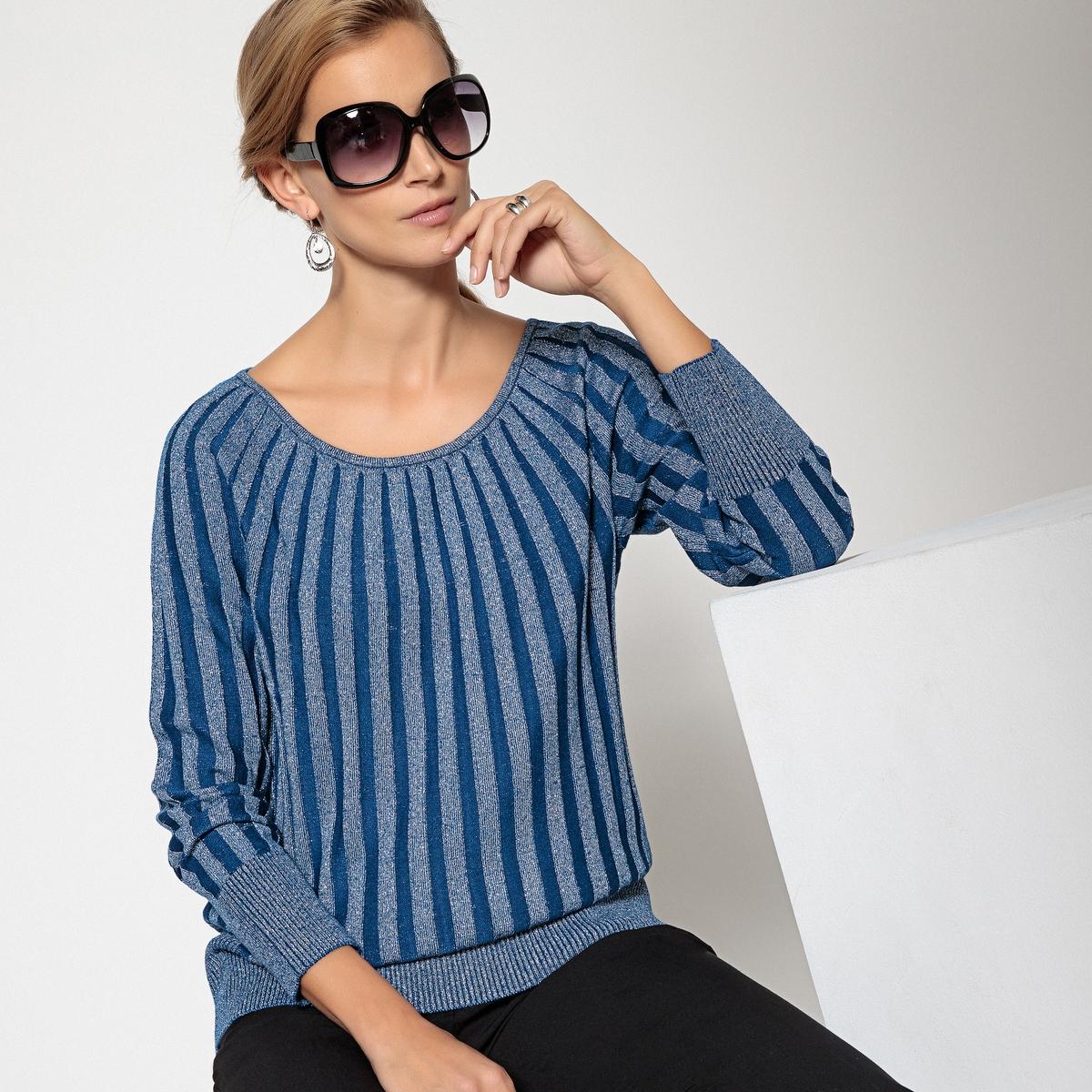 Пуловер с круглым вырезом из тонкого триотажа ANNE WEYBURN