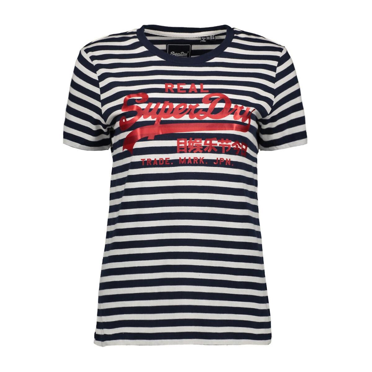 Camiseta de manga corta estilo marinero, con logotipo