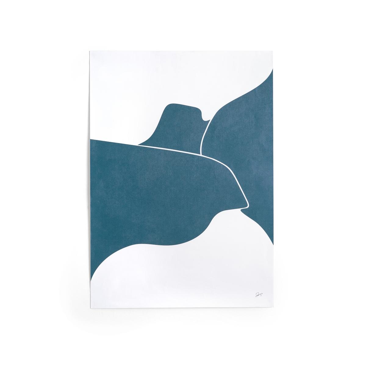 Плакат, MitrandaПлакат Mitranda. Графический современный рисунок синего и белого цветов. Из матовой офсетной бумаги, 170 г/м2. Размеры : 50 x 70 см. Использовать с рамкой Milouin, представленной на нашем сайте.<br><br>Цвет: синий/ белый