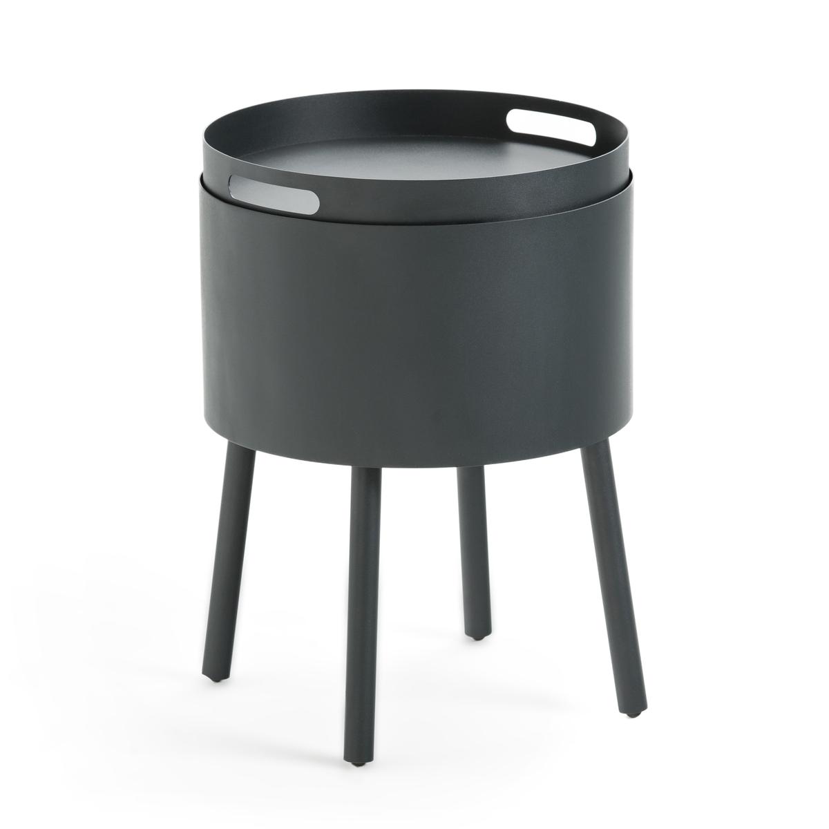 Столик LaRedoute Прикроватный из металла Coubadi единый размер серый