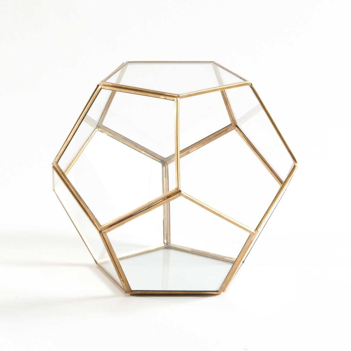 Террариум из стекла и металла, UyovaХарактеристики террариума из стекла и металла Uyova :Грани из прозрачного стекла. Каркас из металла с отделкой из латуни.Не подходит для содержания водыРазмеры террариума Uyova :24,5 x 24,5 x 21 см Размер и вес с упаковкой :1 упаковка33 x 33 x 29 см1,85 кг.<br><br>Цвет: латунь