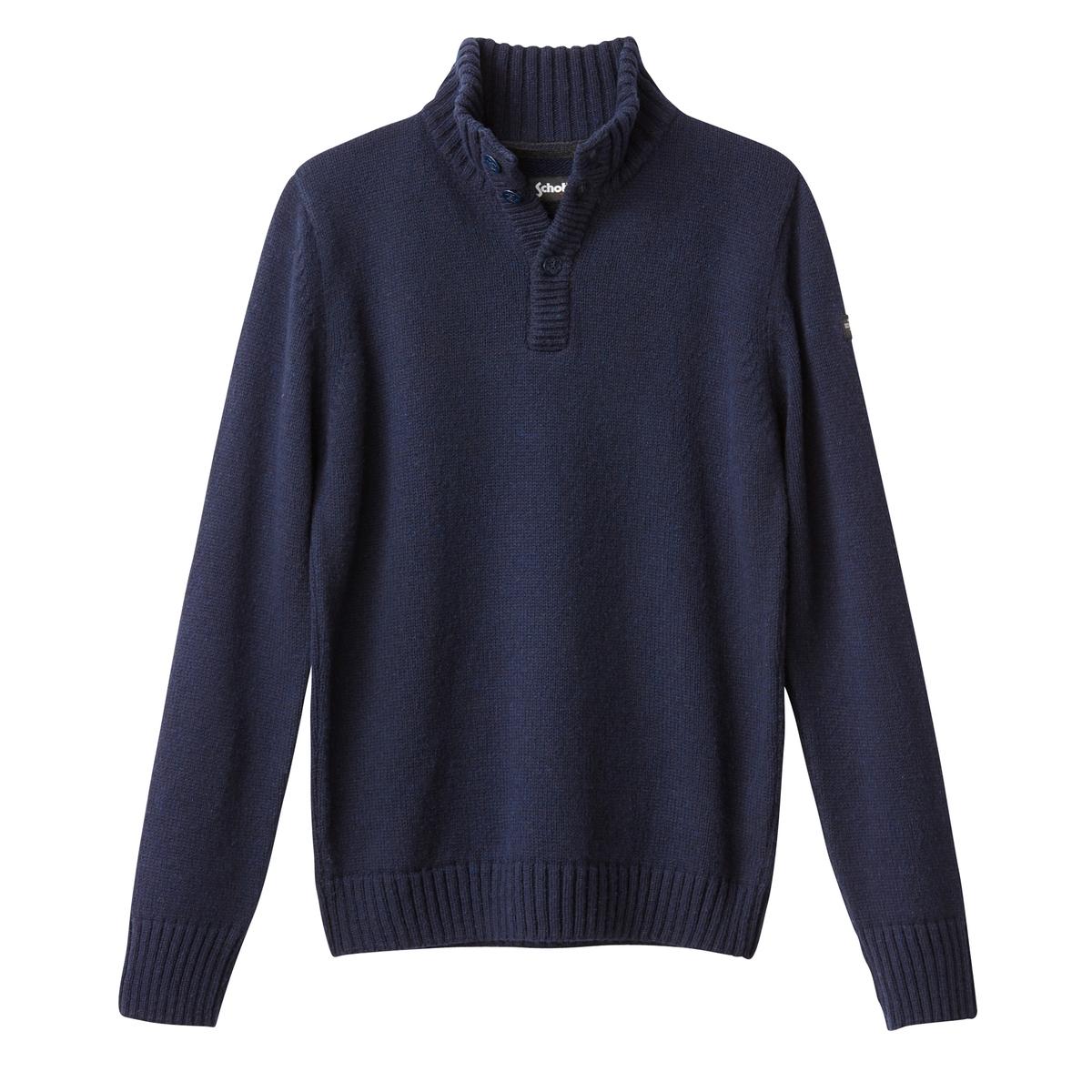 Пуловер крупной вязкиОписание:Детали  •  Длинные рукава  •  Воротник-стойка •  Плотный трикотаж Состав и уход  •  13% шерсти, 75% акрила, 12% полиамида  •  Следуйте советам по уходу, указанным на этикетке<br><br>Цвет: синий морской<br>Размер: 3XL