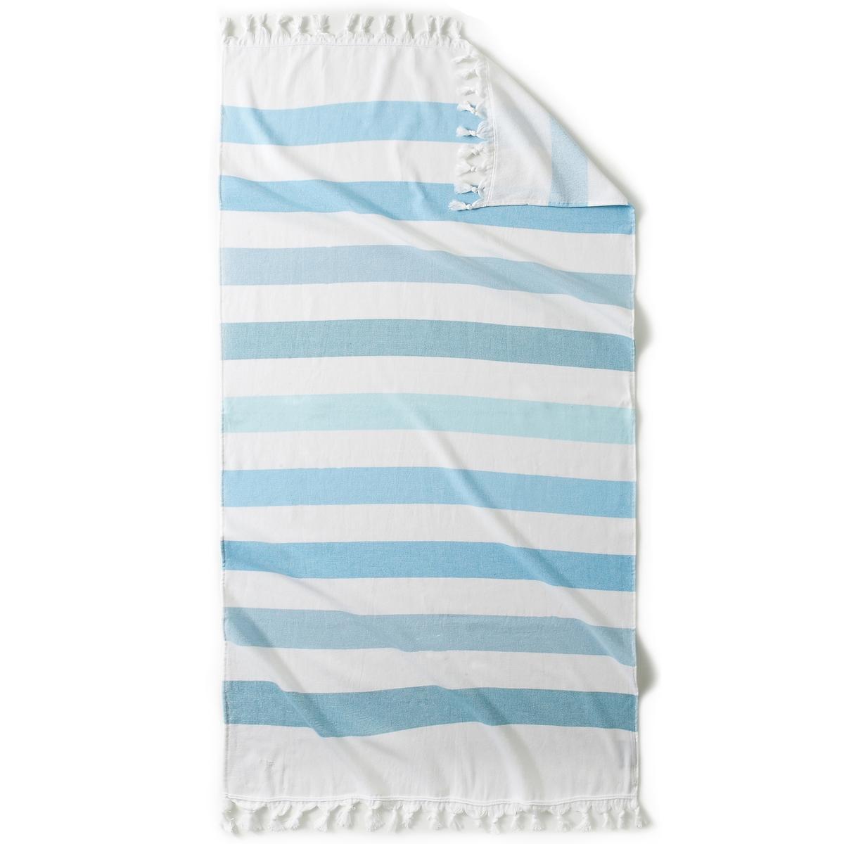 Полотенце пляжное Fouta Jolly, с махровой подкладкой, 330г/м²