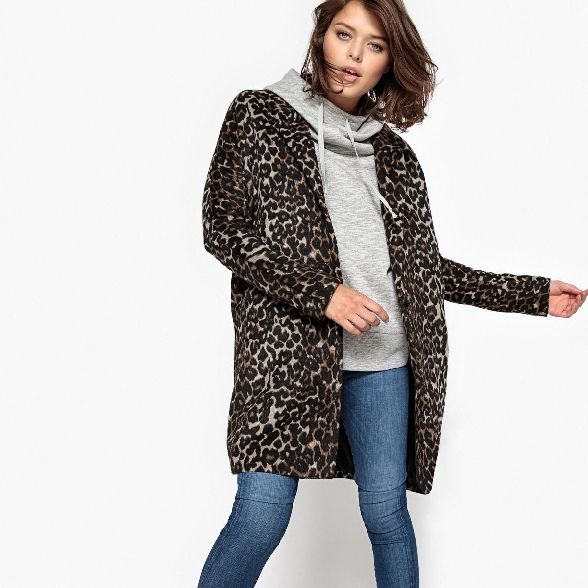 Пальто с леопардовым принтом пальто с леопардовым принтом 30% шерсти