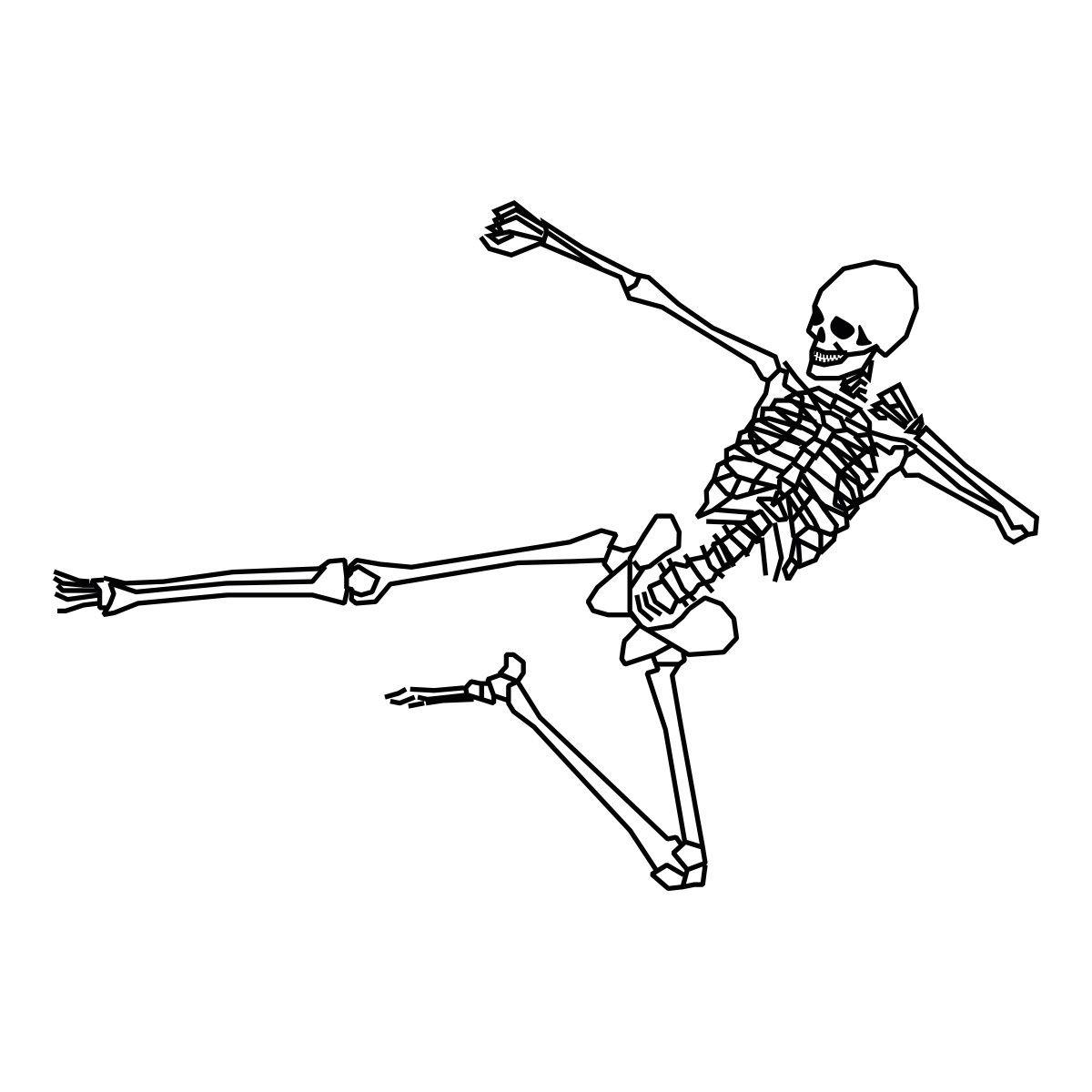 Stickers muraux squelette kung fu