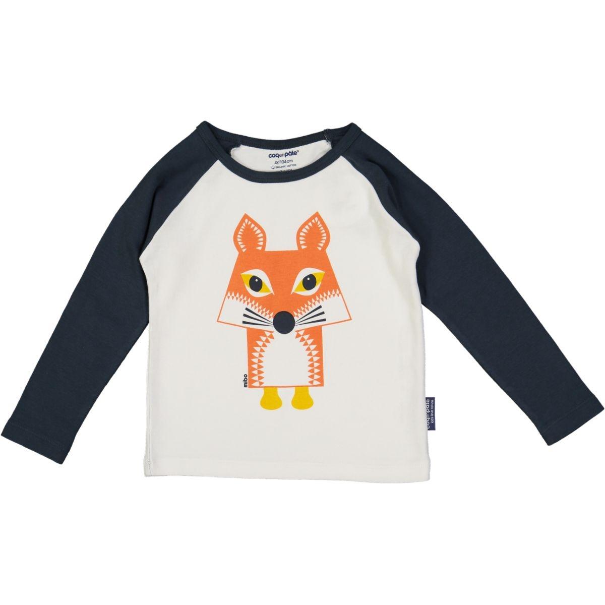 T-shirt raglan renard 3 mois à 6 ans