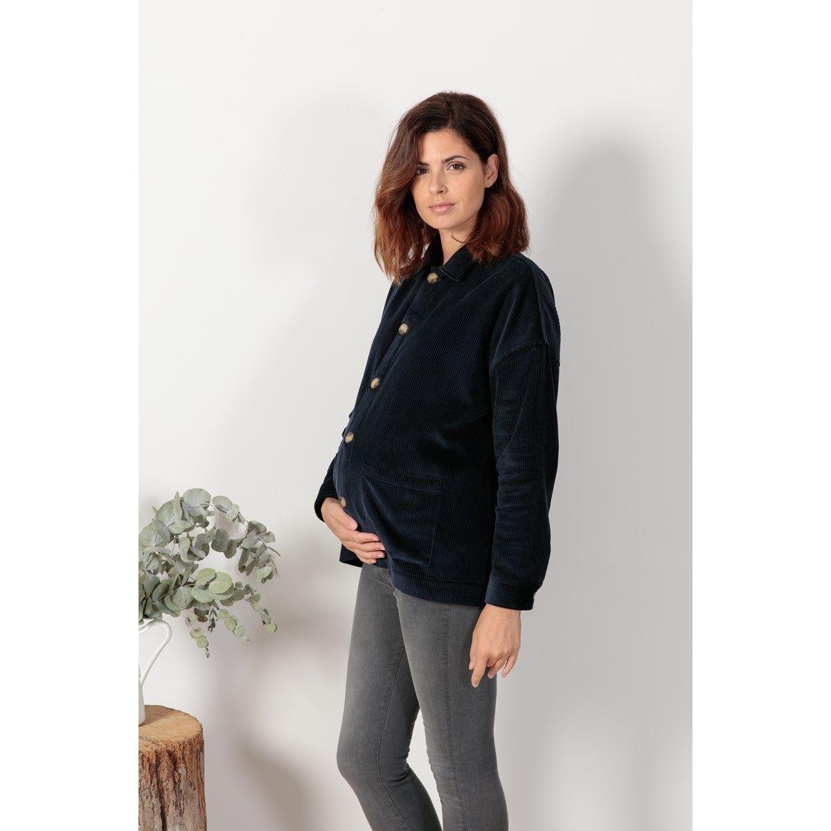 Veste en velours pendant après grossesse