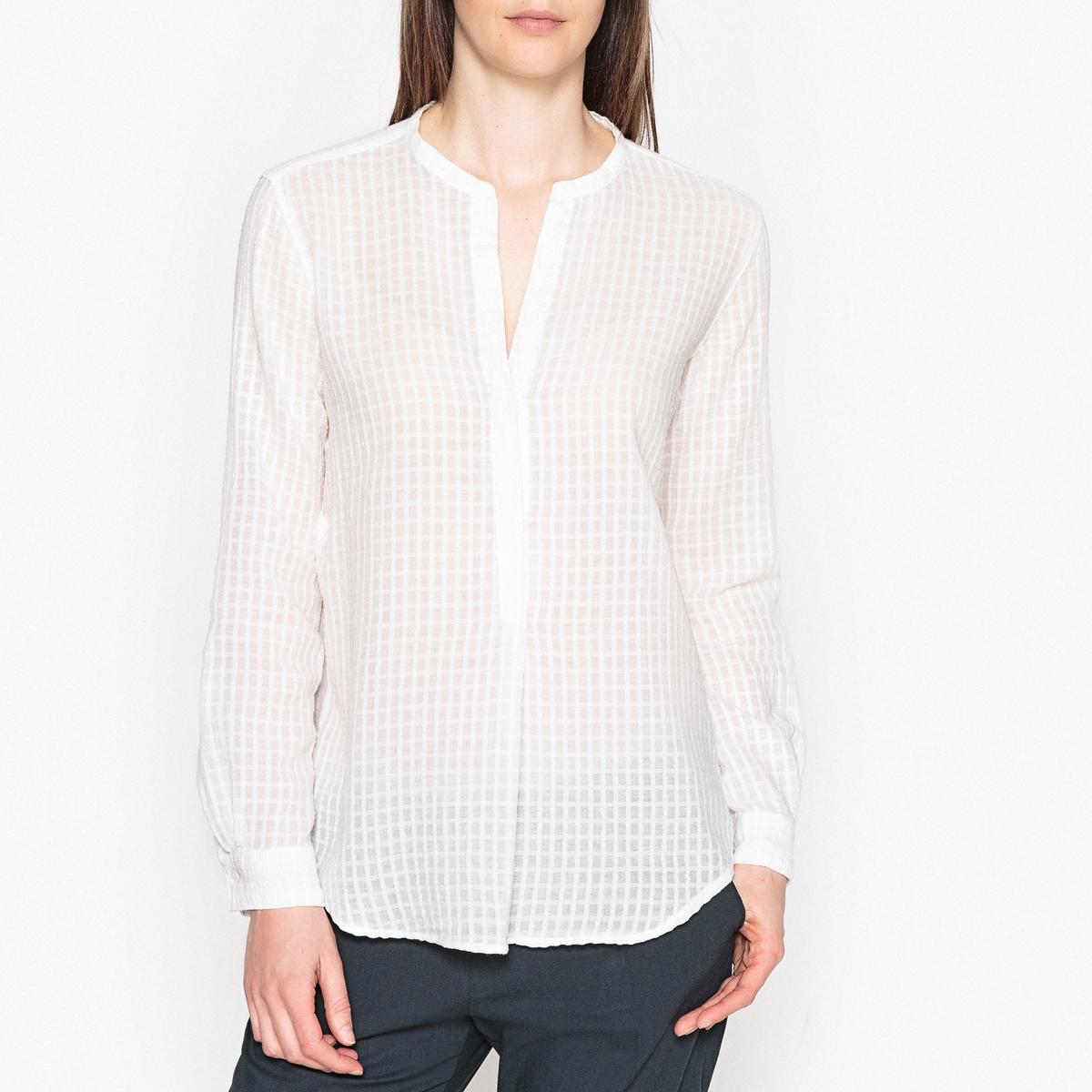 Блузка с тунисским вырезом и длинными рукавами CARTA