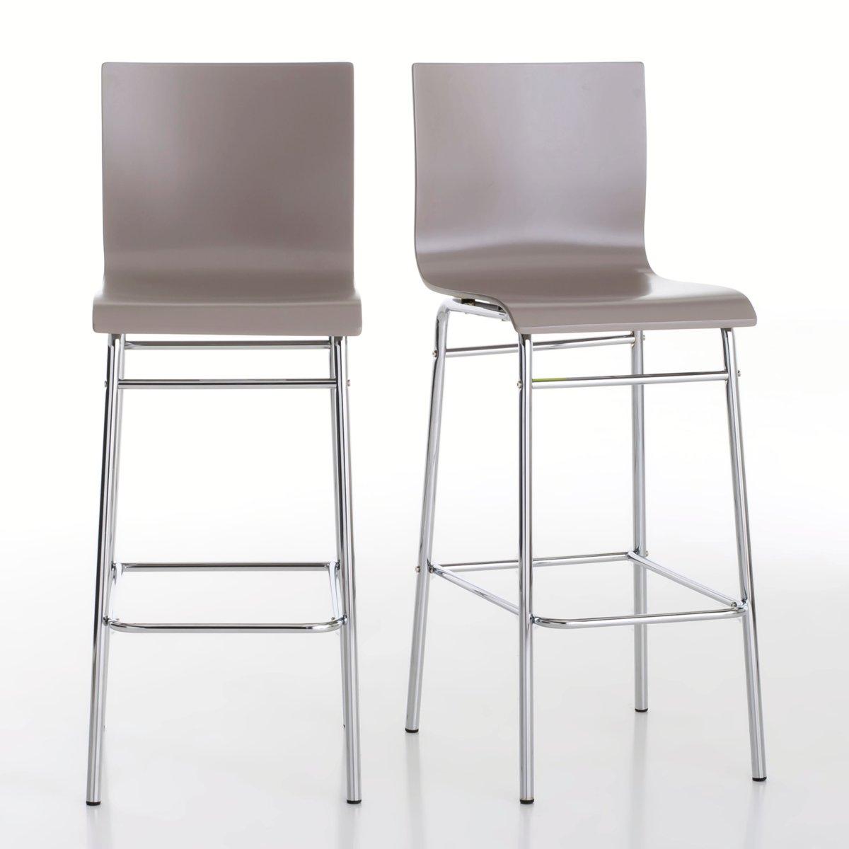 2 стула барных, JanikБарные стулья Janik на высоких ножках! 4 модных цвета, которые можно сочетать, для более яркого эффекта !Характеристики стульев Janik :Спинка и сиденье из фанеры, ПУ-лакировка .Ножки из хромированной стальной трубки .Стулья продаются по 2 шт одного цвета .Барные стулья Janikпродаются готовыми к сборке Найдите высокий стол Janik, а также всю коллекцию Janik на нашем сайте ..       Размеры высоких стульев Janik :Общие : Ширина : 42 см.Высота : 110 см.Глубина : 50 см.Сиденье : Выс 75 см<br><br>Цвет: серо-коричневый каштан<br>Размер: комплект из 2