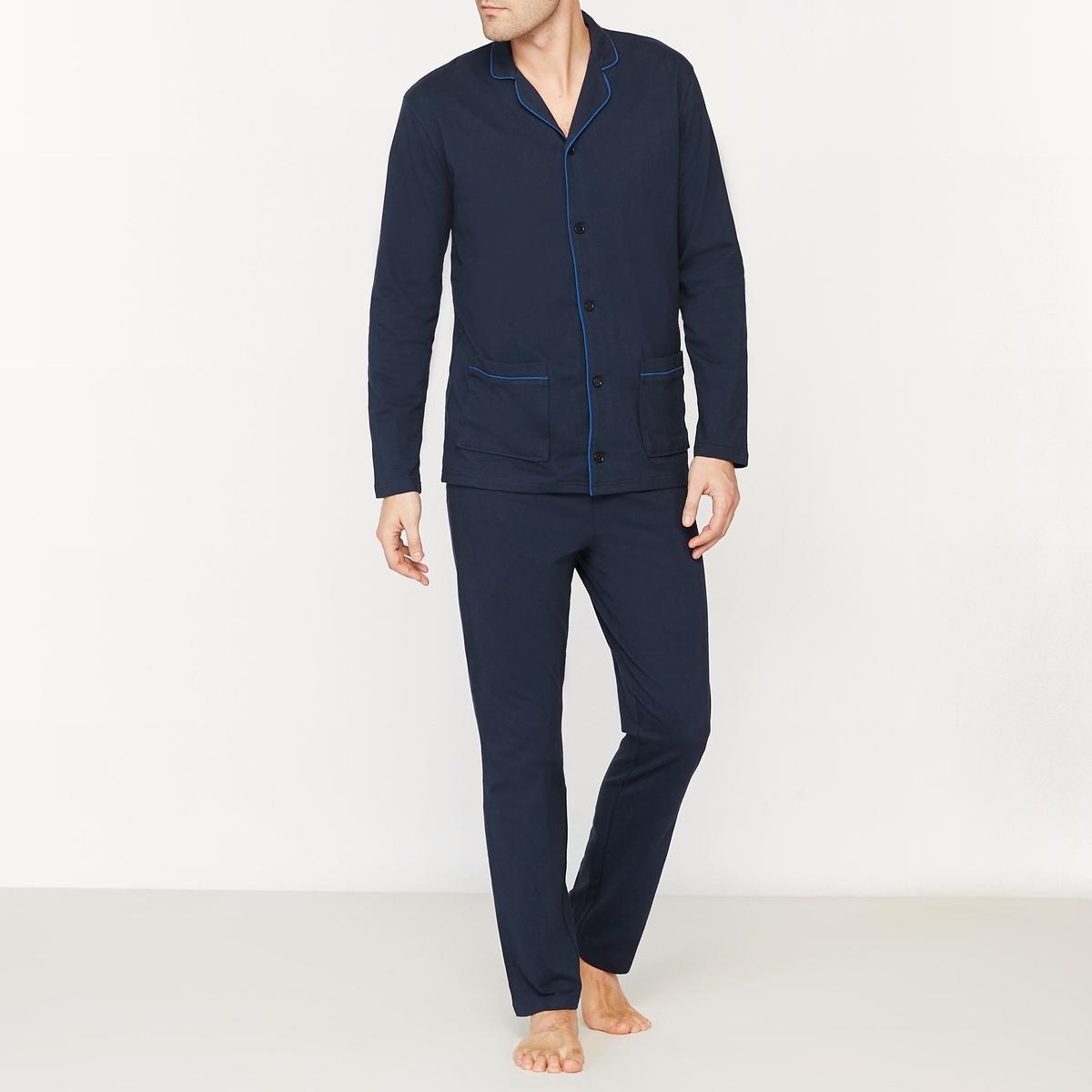 Пижама с жакетом из джерси пижама из атласа и джерси