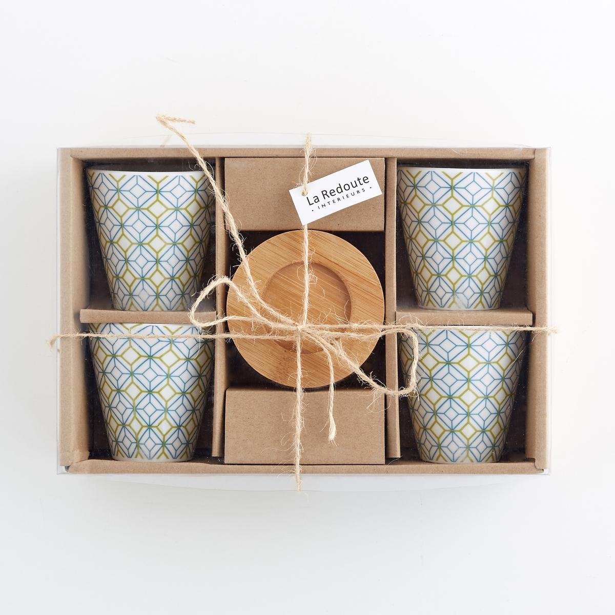 Чашки кофейные из фарфора, 4 шт. от La Redoute