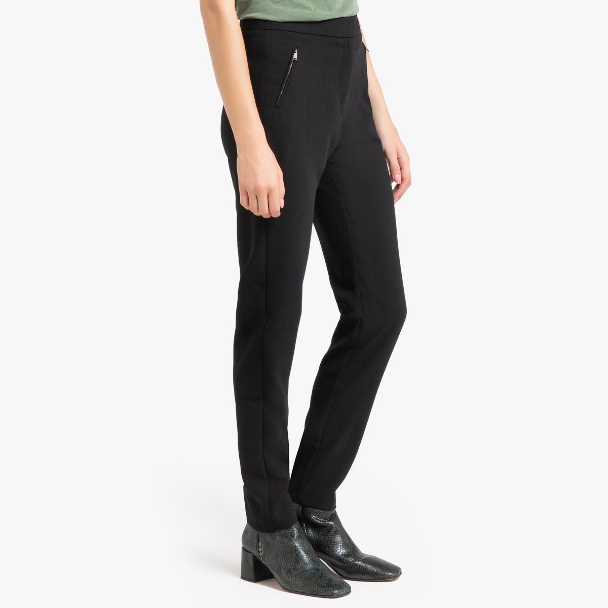 Брюки-дудочки La Redoute С завышенной талией 40 (FR) - 46 (RUS) черный юбка la redoute короткая с завышенной талией и цветочным рисунком xs зеленый