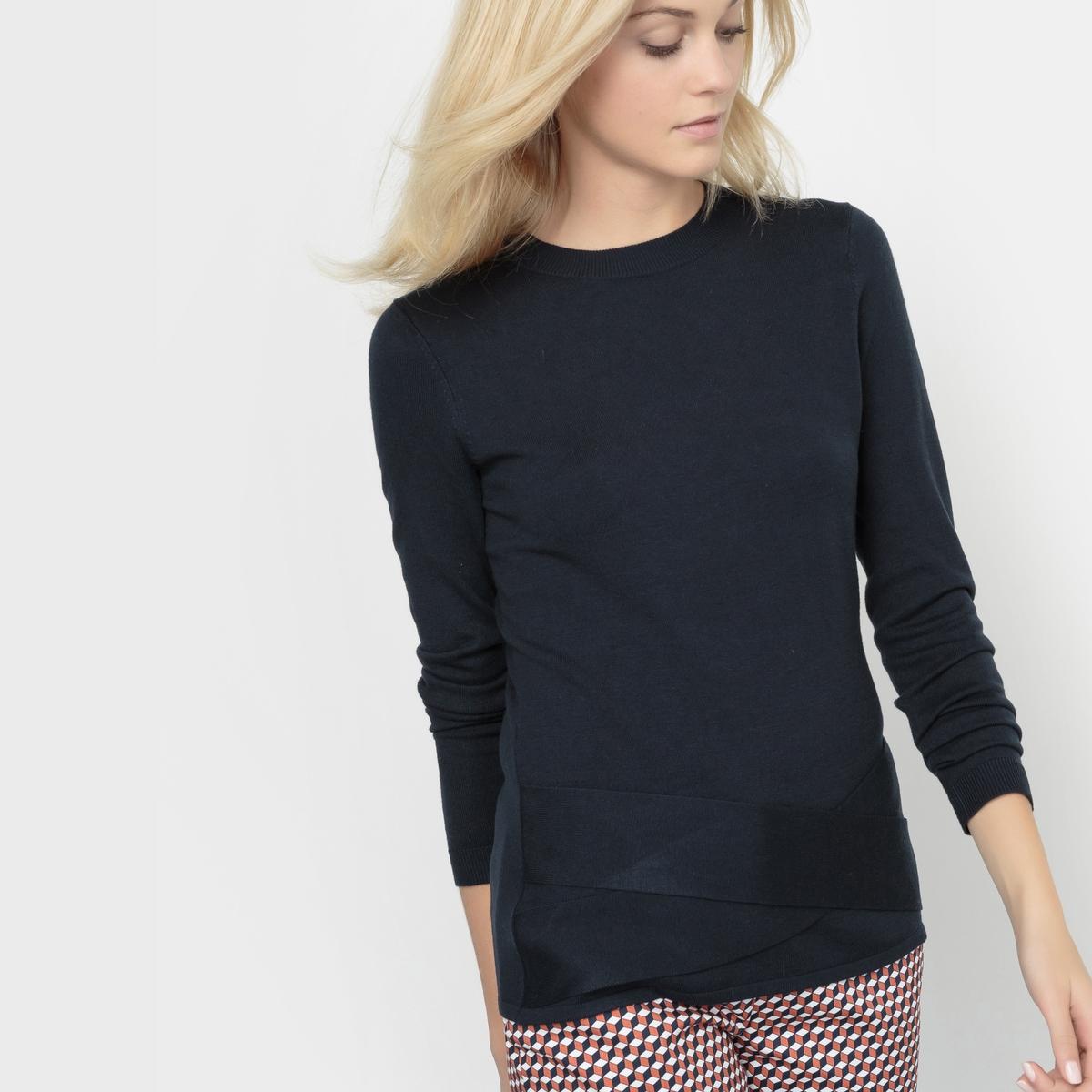 Пуловер на завязках