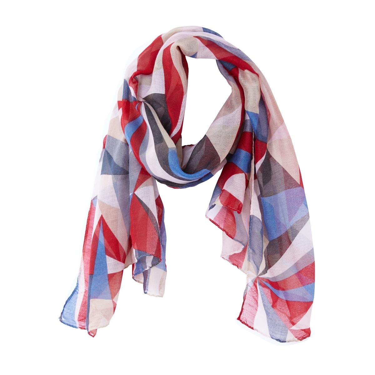 Платок с разноцветным принтом платок 90 90 см foulard de luxe цвет мультиколор