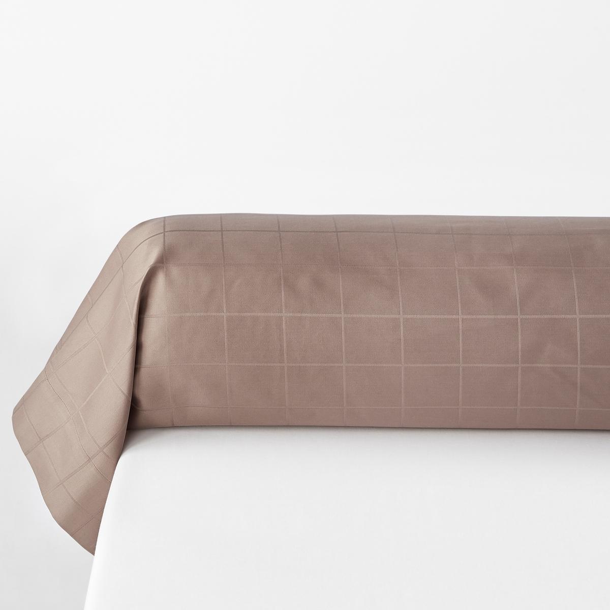 Fronha de travesseiro, cetim de algodão, quadrados grandes