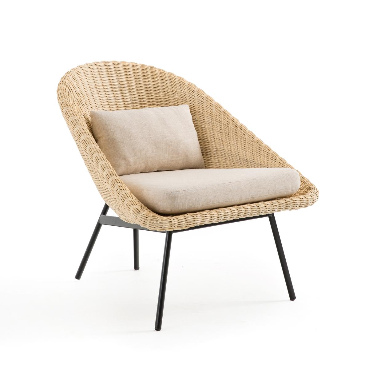 Винтажное LaRedoute Кресло из ротанга Payol единый размер бежевый