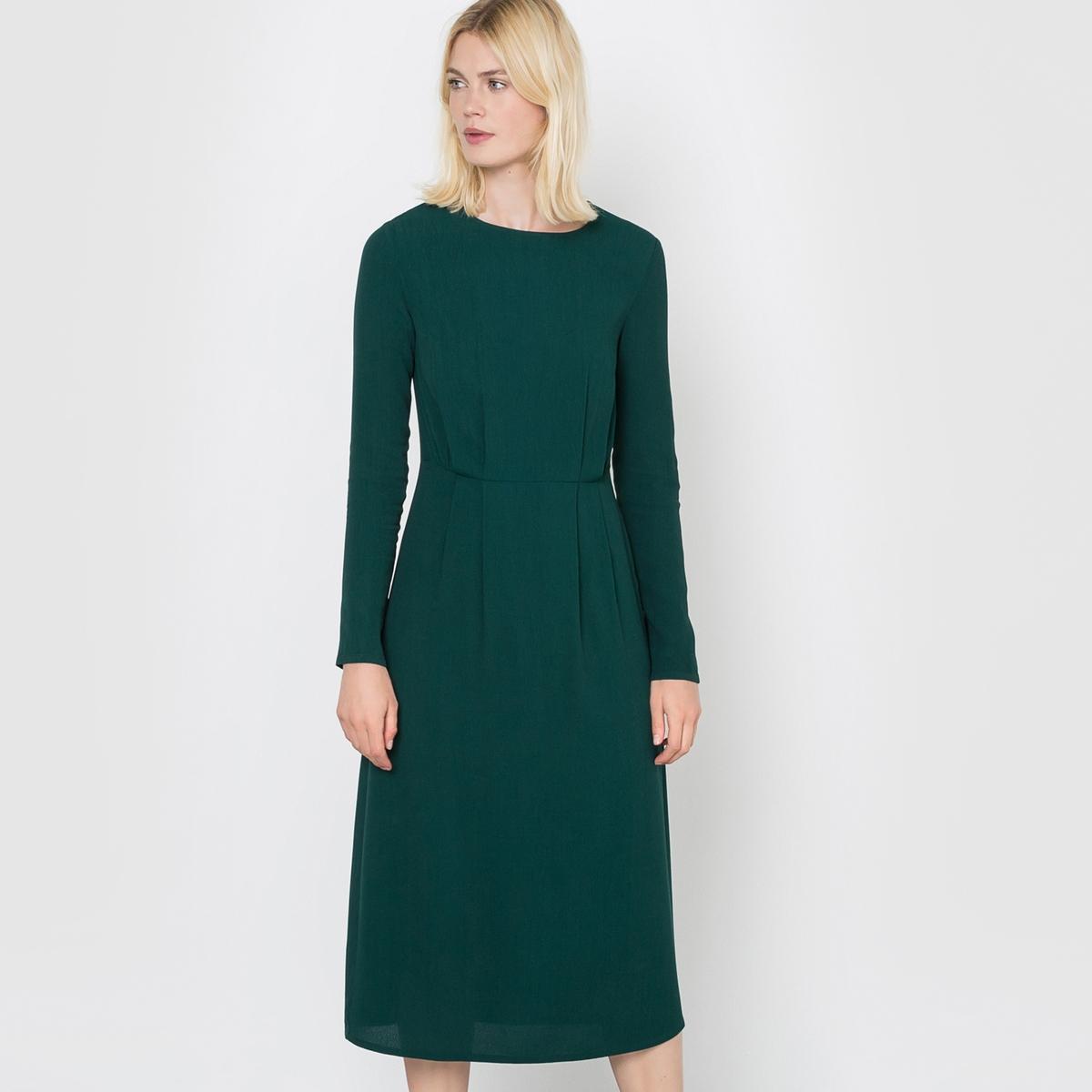 Платье длинное из крепаСостав и описаниеМатериал : 100% вискозаДлина : 115 см.Марка : R studio.Уход:Машинная стирка при 30 °C в деликатном режимеСтирать с вещами схожих цветовСтирать и гладить с изнанкиГладить при низкой температуре.Запрещено отбеливаниеМашинная сушка запрещена<br><br>Цвет: темно-зеленый<br>Размер: 40 (FR) - 46 (RUS).36 (FR) - 42 (RUS).38 (FR) - 44 (RUS).42 (FR) - 48 (RUS)