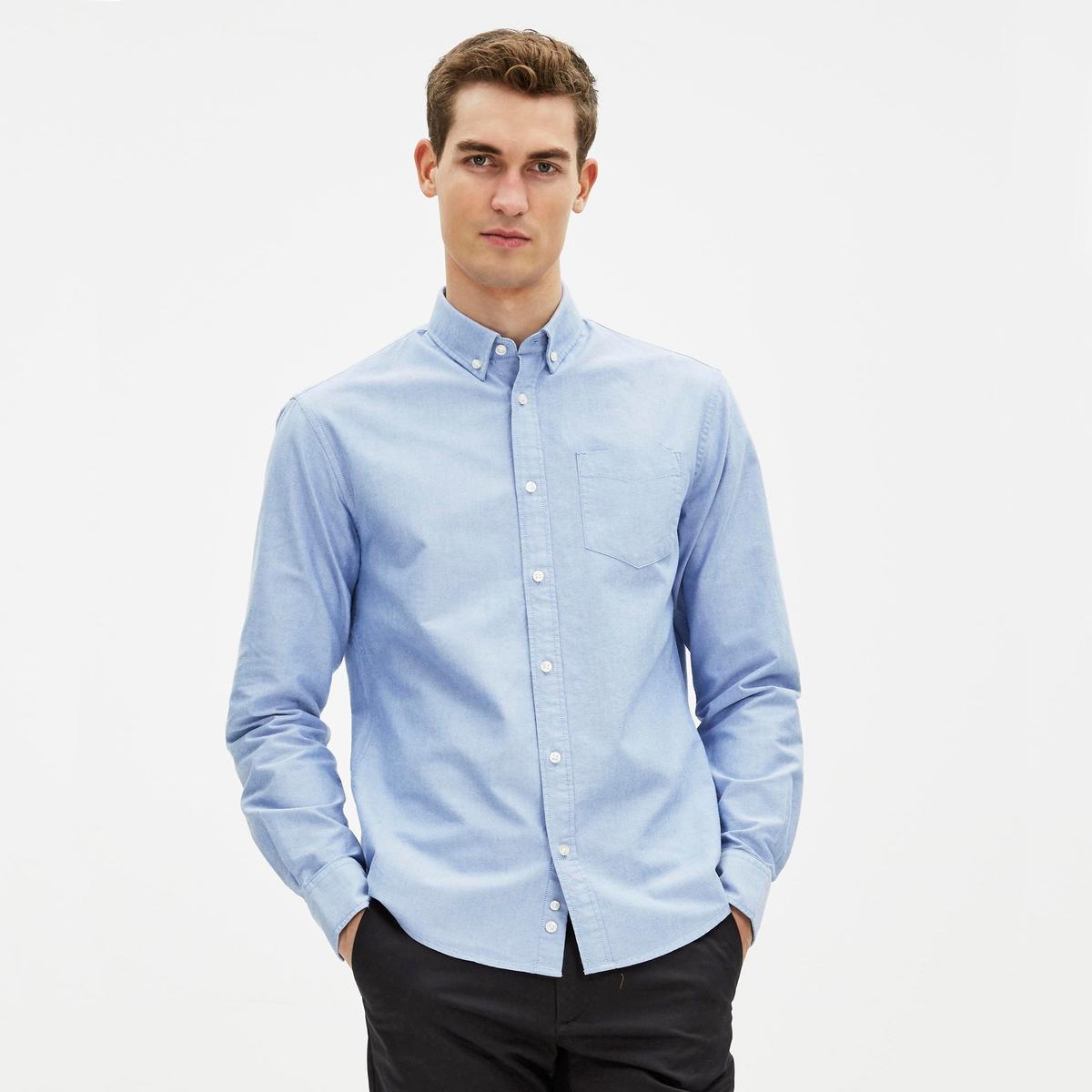 Рубашка узкого покроя GAOXFORD в стиле оксфорд