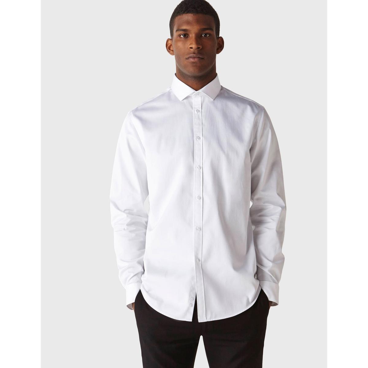 Рубашка прямого покроя SHARANI из хлопкового сатина