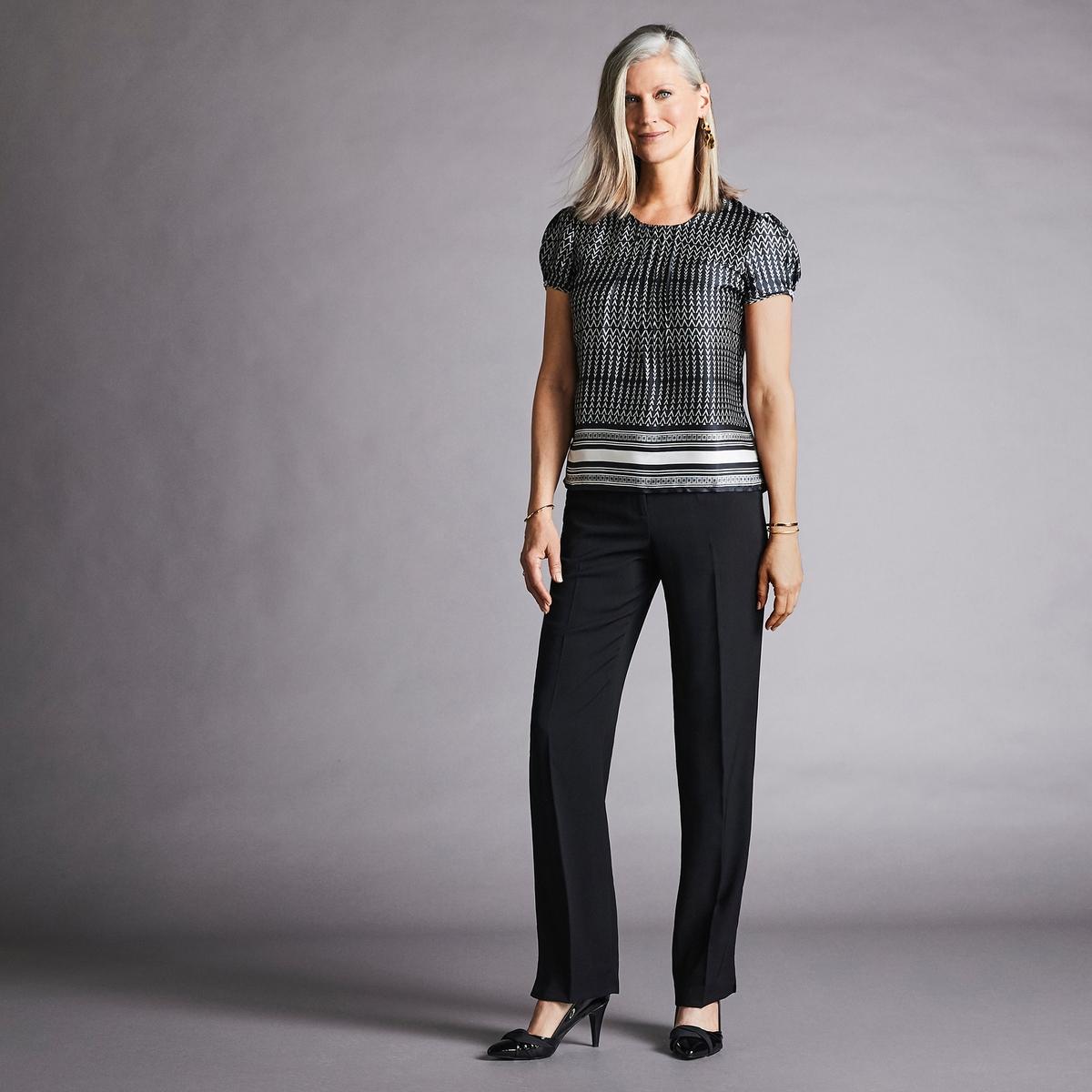 Imagen adicional de producto de Pantalón urbano recto de sarga vaporosa - Anne weyburn