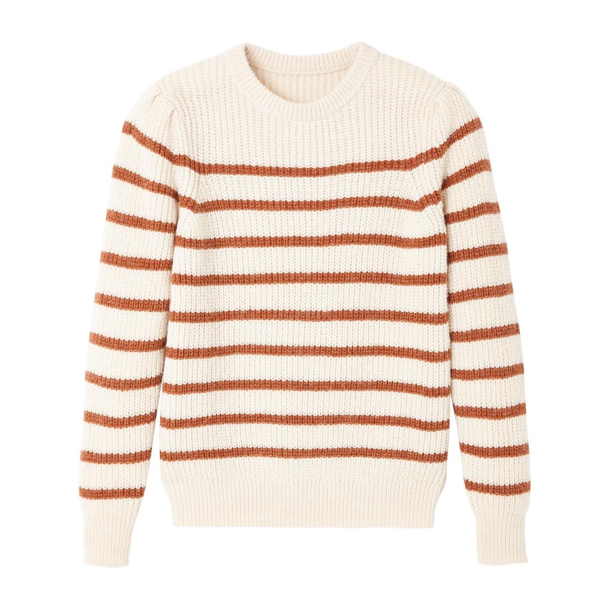 Пуловер La Redoute — В полоску из трикотажа крупной вязки M другие