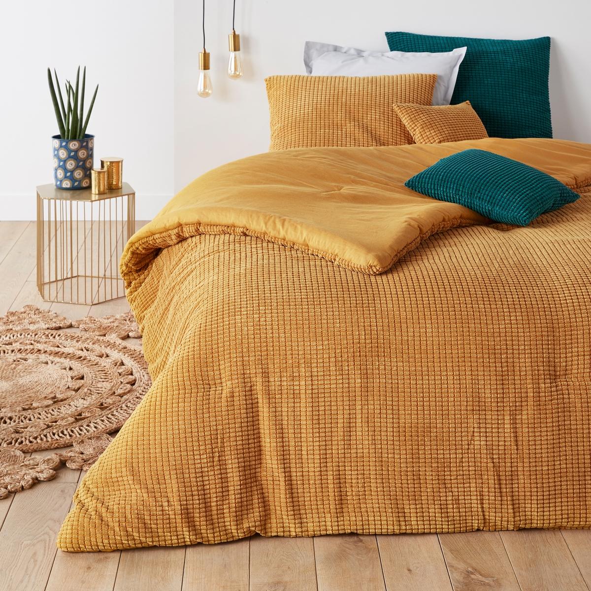 Покрывало La Redoute Рельефное FLUFFY 230 x 250 см желтый