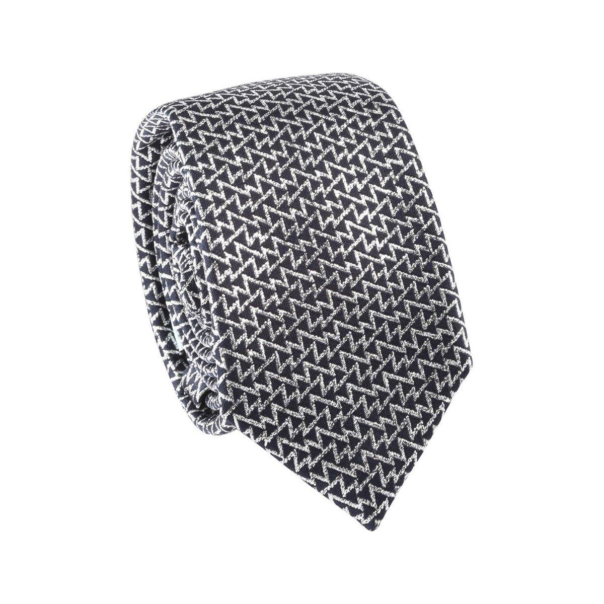 Cravate motif argenté