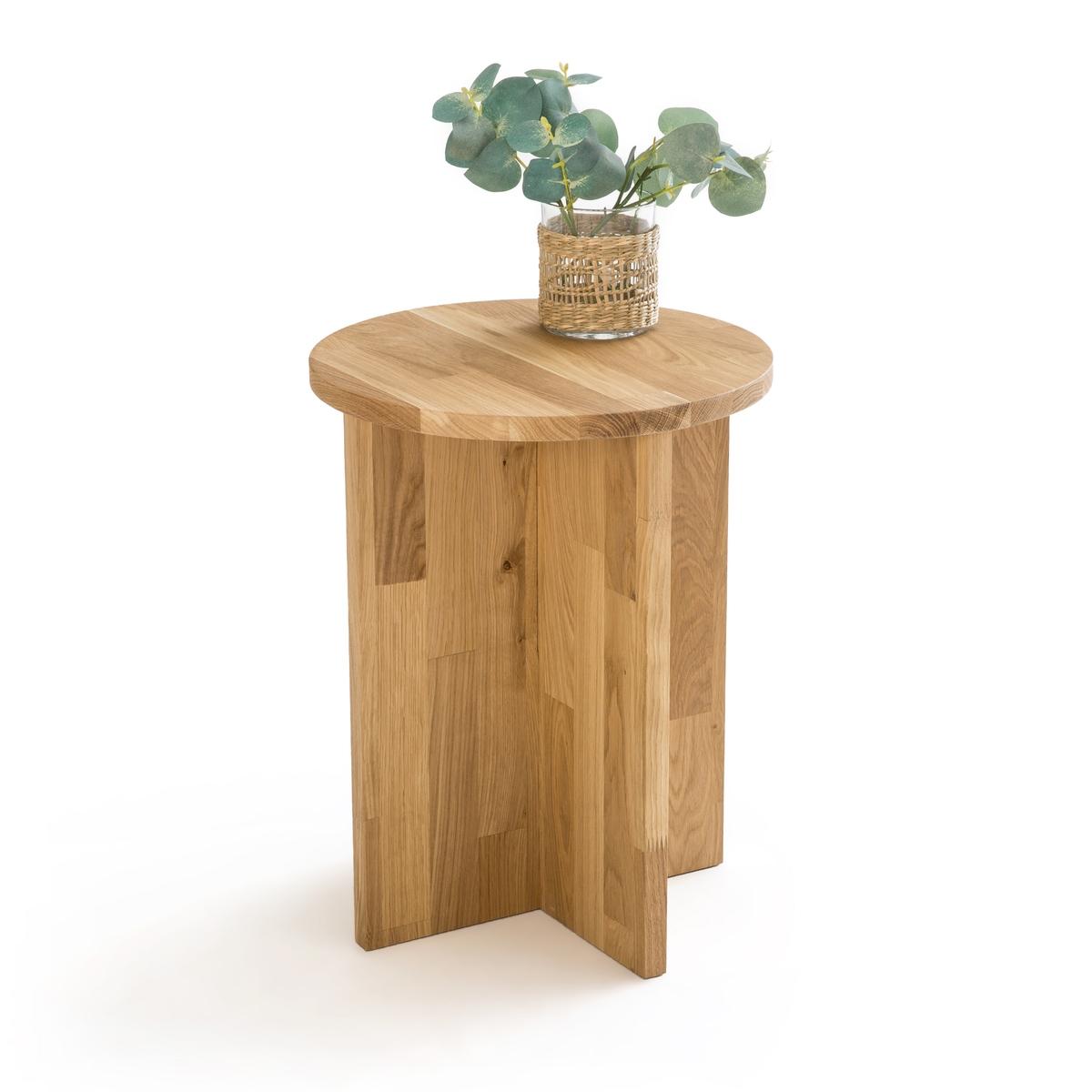 Стол LaRedoute Журнальный из массива дуба Obadi единый размер каштановый столик laredoute журнальный из дуба покрытого олифой adelita единый размер каштановый