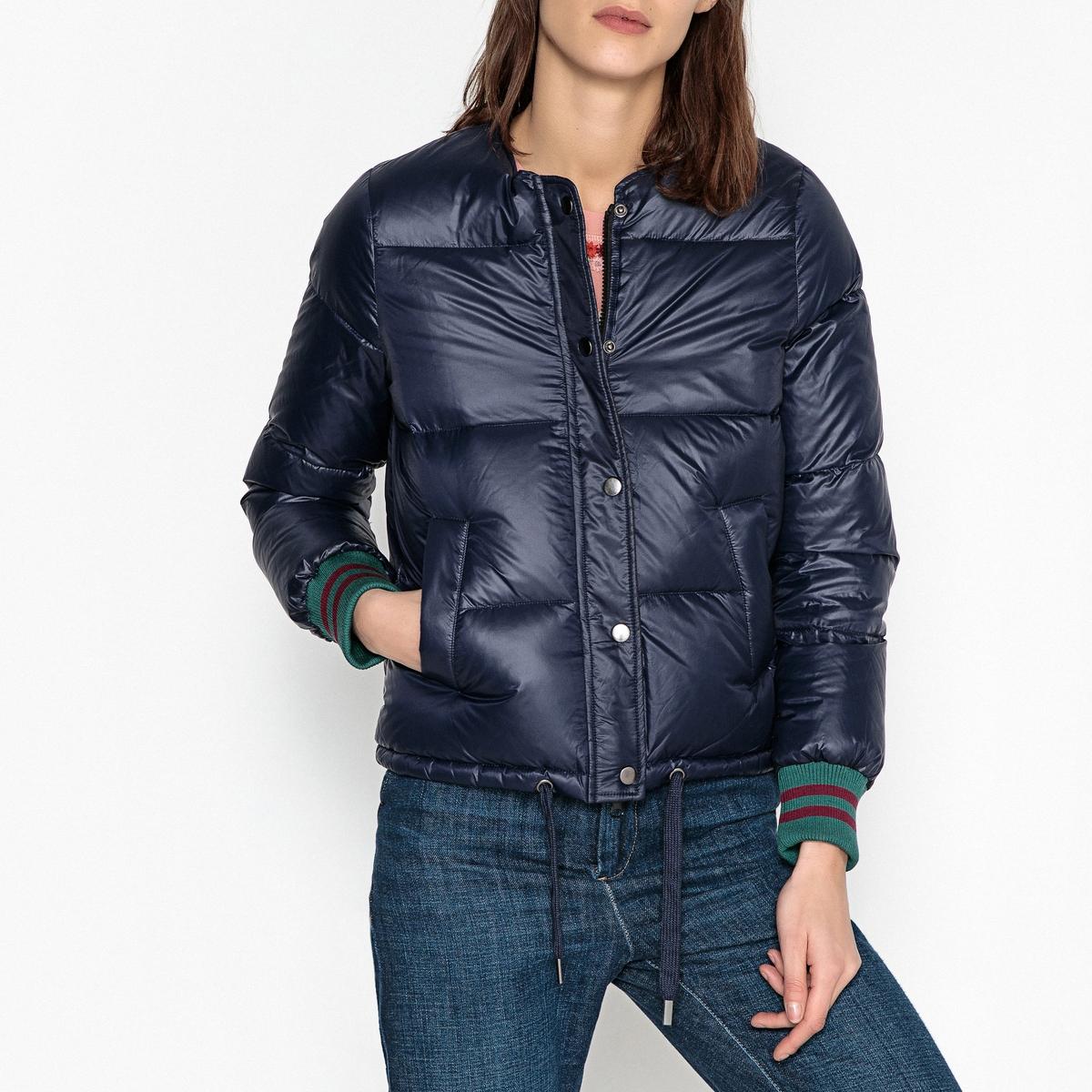 Куртка стеганая с манжетами в рубчик VERY