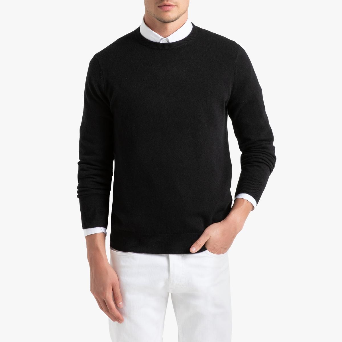 Пуловер La Redoute С круглым вырезом кашемира S черный пуловер la redoute с круглым вырезом из шерсти мериноса pascal 3xl черный