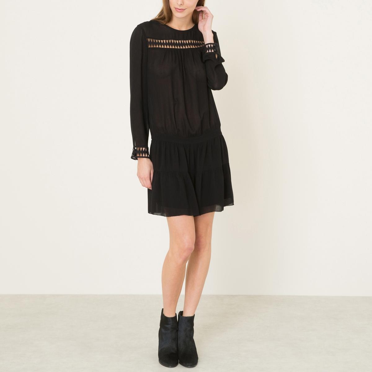 Платье JOLI DRESSСостав и описание    Материал : 100% ткань из волокна рами   Длина : 92 см. (для размера 36)   Марка : BA&amp;SH<br><br>Цвет: черный