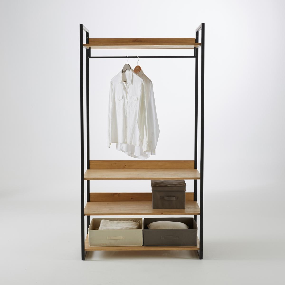 Большой La Redoute Модуль для одежды с полками и отделение Hiba единый размер каштановый
