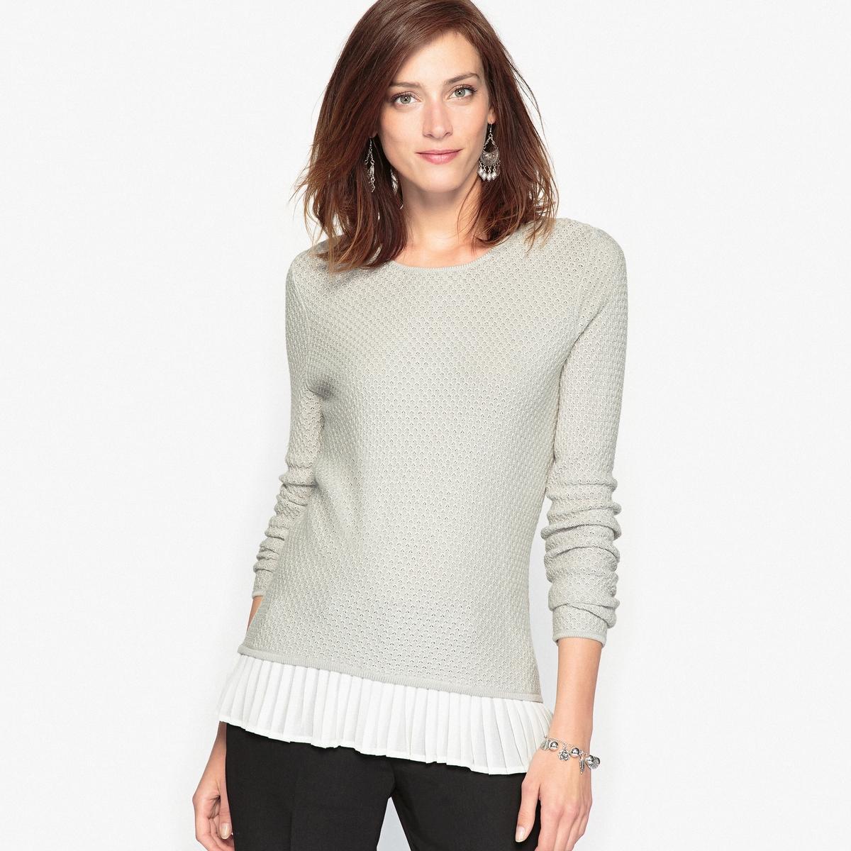 Пуловер из оригинального трикотажа, 10% шерсти