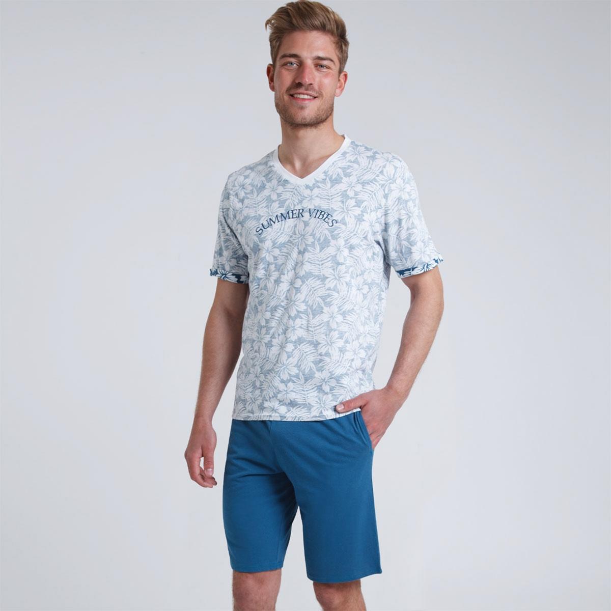 Пижама La Redoute С шортами Summer Vibes XXL синий шорты с эластичным поясом