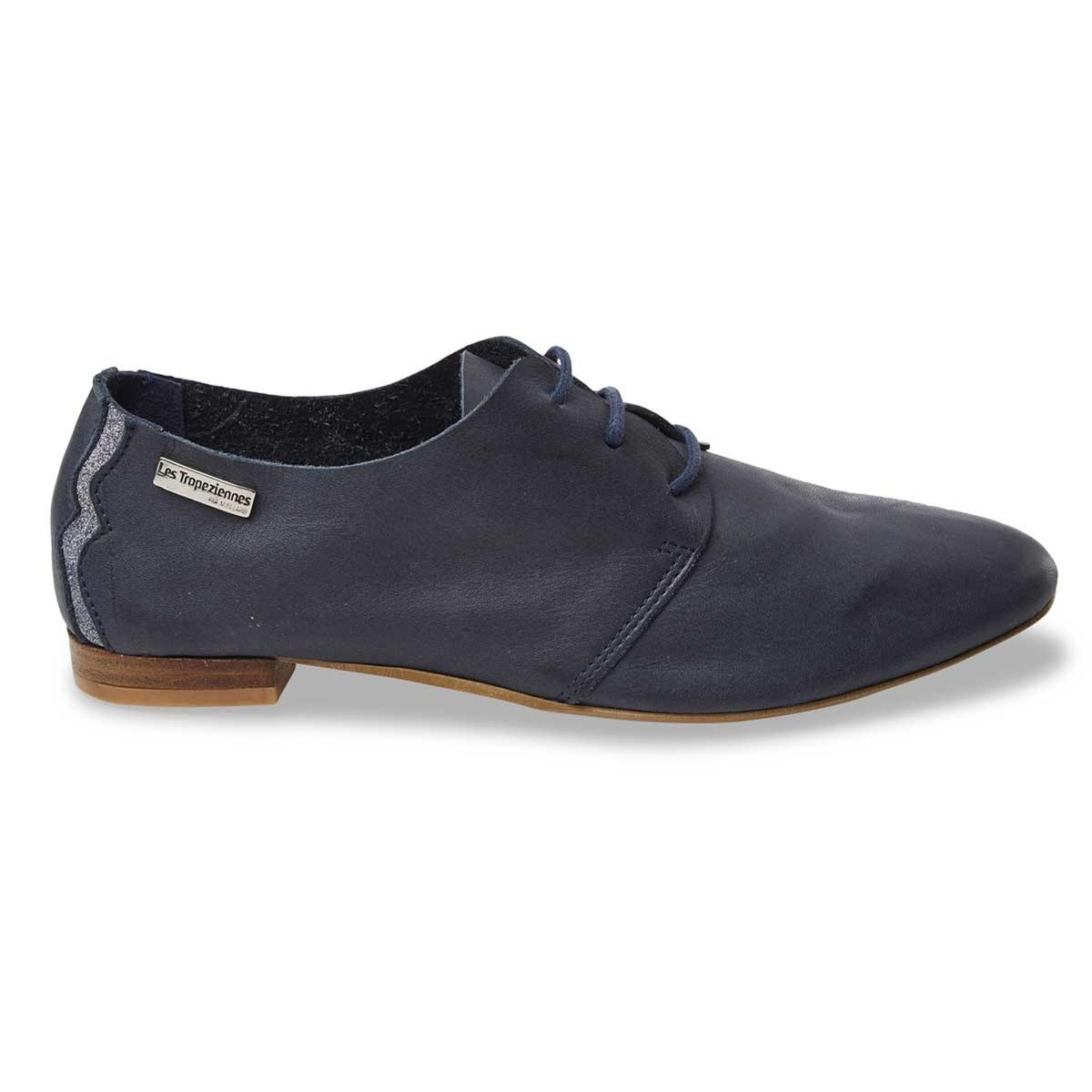 Ботинки-дерби из мягкой кожи TakarikaВерх/Голенище: кожа.   Стелька: кожа.  Подошва: синтетика.Форма каблука: плоский каблук.  Мысок: закругленный.Застежка: шнуровка.<br><br>Цвет: каштановый,синий морской<br>Размер: 41.36