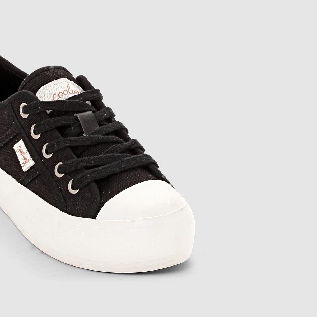 Кеды низкие на платформе, на шнуровке, DANIELAКеды низкие на платформе, на шнуровке, DANIELA от COOLWAY.Верх : текстильПодкладка : текстильСтелька : текстильПодошва : каучукЗастежка : шнуровкаВысота каблука  : 3 см Форма мягких теннисных туфель, подчеркнутаяплатформой : еще один модный намек от марки Coolway !<br><br>Цвет: черный<br>Размер: 37.41