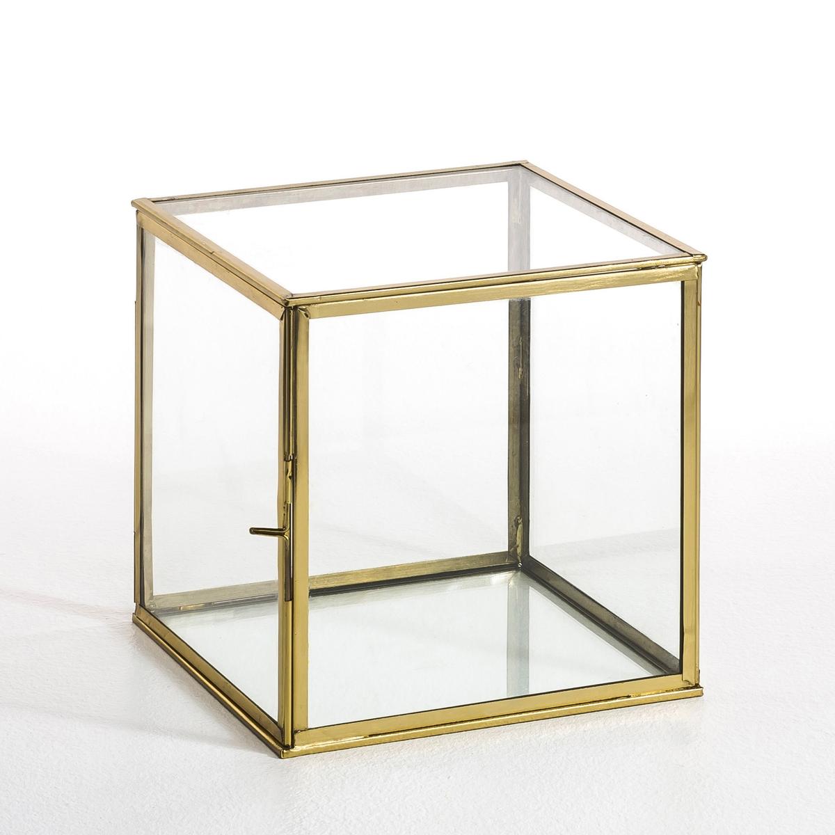 Коробка-витрина, MisiaХарактеристики : - Выполнена из стекла и металла.Размер : - 20 x 20 x 20 см<br><br>Цвет: латунь,черный металл