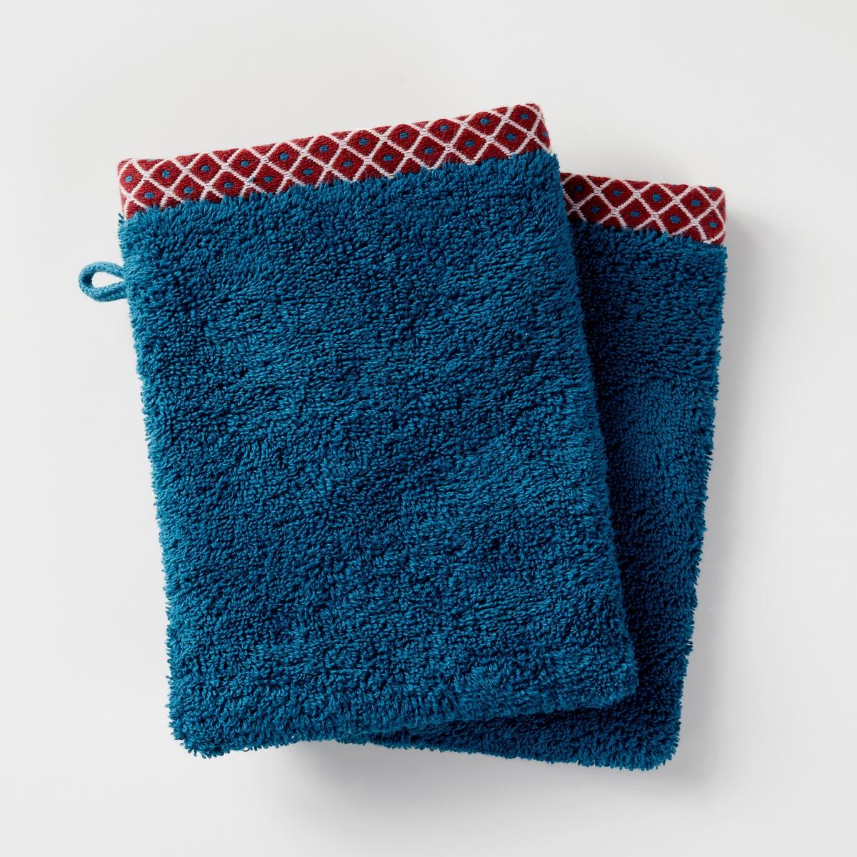 Комплект из 2-х банных рукавичек, 100% хлопка, EVORA