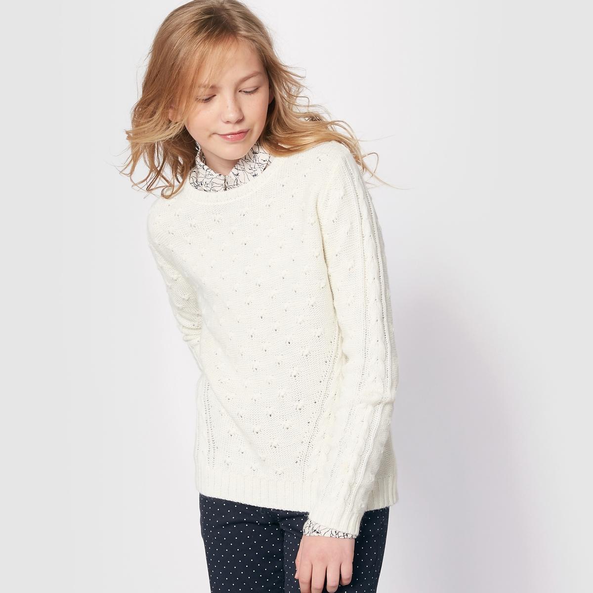 Пуловер из плетеного трикотажа на 10-16 лет от La Redoute Collections