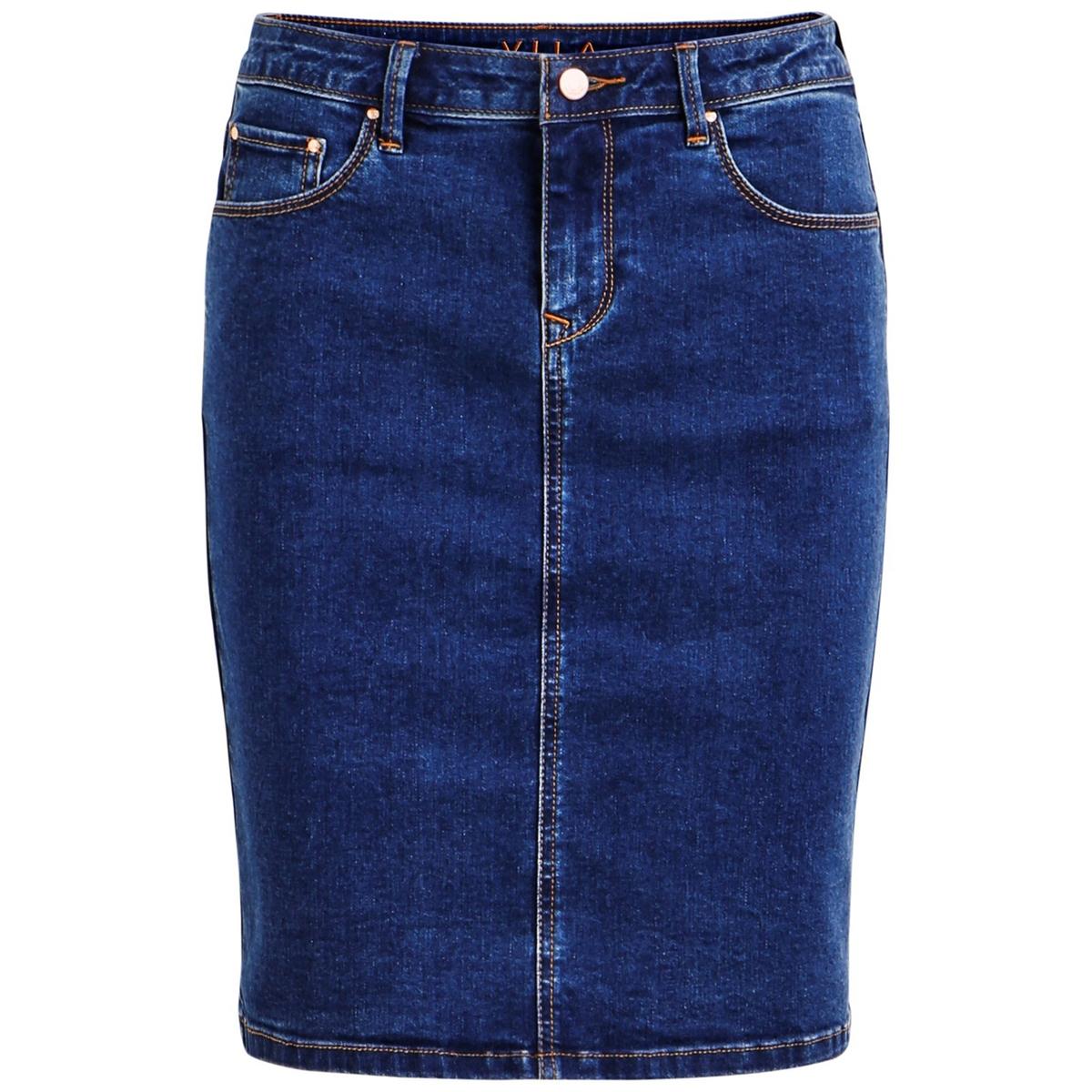 Фото - Юбка LaRedoute Прямая из денима до колен XS синий юбка laredoute прямая из легкого денима 3 12 лет 3 года 94 см синий
