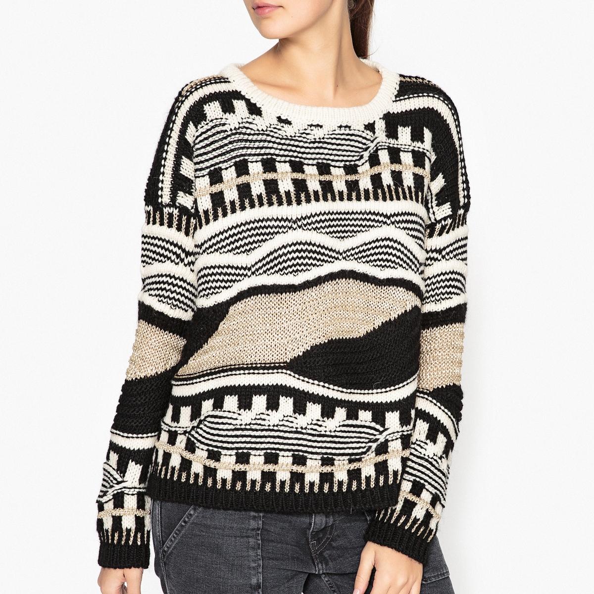 Пуловер из причудливого трикотажа TINGO