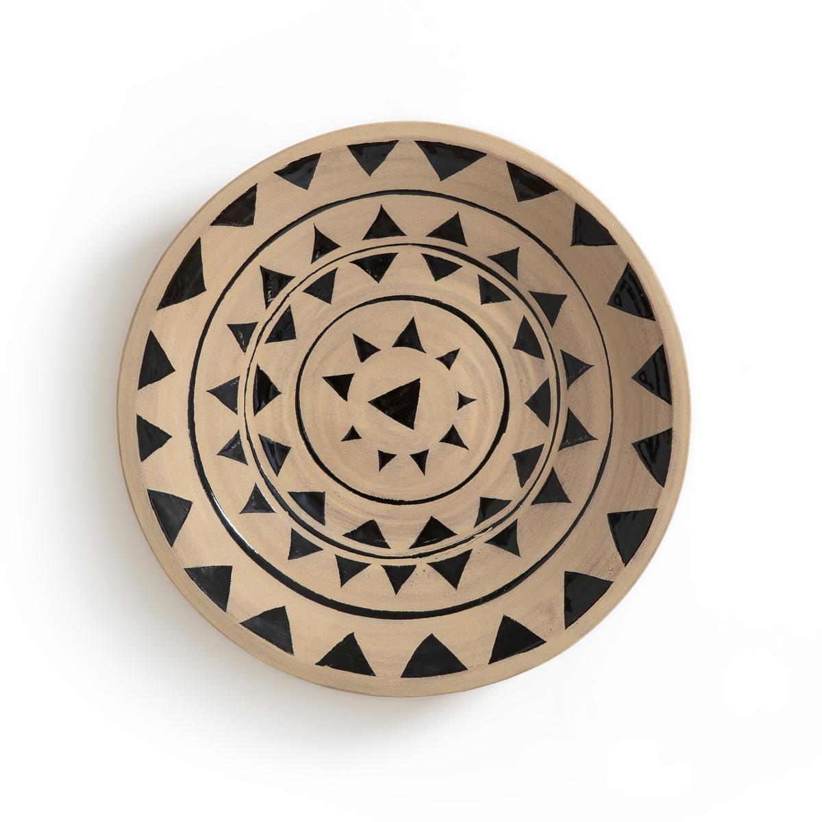 Украшение настенное, ?34 см, рисунок 1, SombralНастенное украшение Sombral. Из керамики. 3 модели с различным рисунком, представленные на нашем сайте, которые можно сочетать для оригинального настенного украшения в этническом стиле. Пластина для крепления на стену (винт и дюбель продаются отдельно). Размеры: ?34 x В7 см.<br><br>Цвет: черный