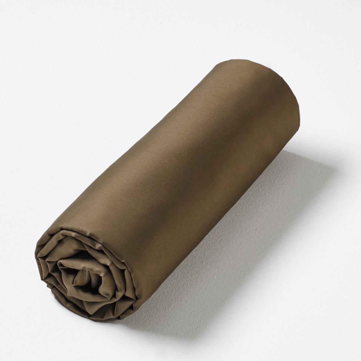 Натяжная простыня Ysabel, сатин из чистого хлопкаСертификат Oeko-Tex® дает гарантию того, что товары изготовлены без применения химических средств и не представляют опасности для здоровья человека.<br><br>Цвет: каштановый<br>Размер: 140 x 190  см
