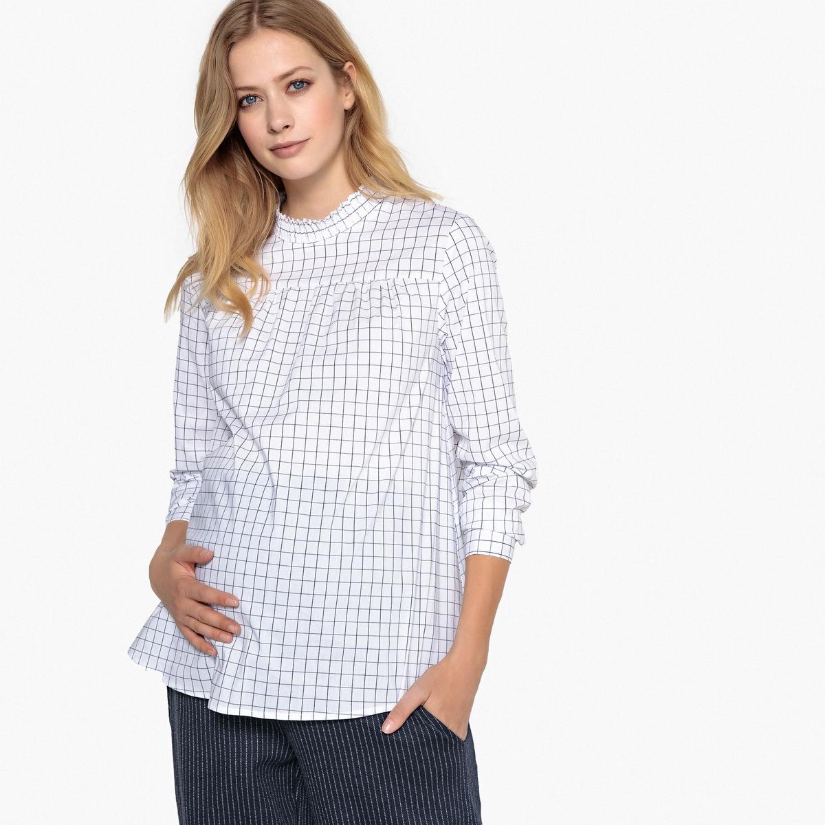 Блузка для периода беременности с принтом и длинными рукавами LA REDOUTE MATERNITE