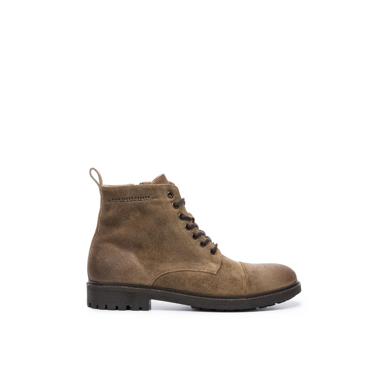 цена Ботильоны La Redoute Porter Boot Sude 40 каштановый онлайн в 2017 году
