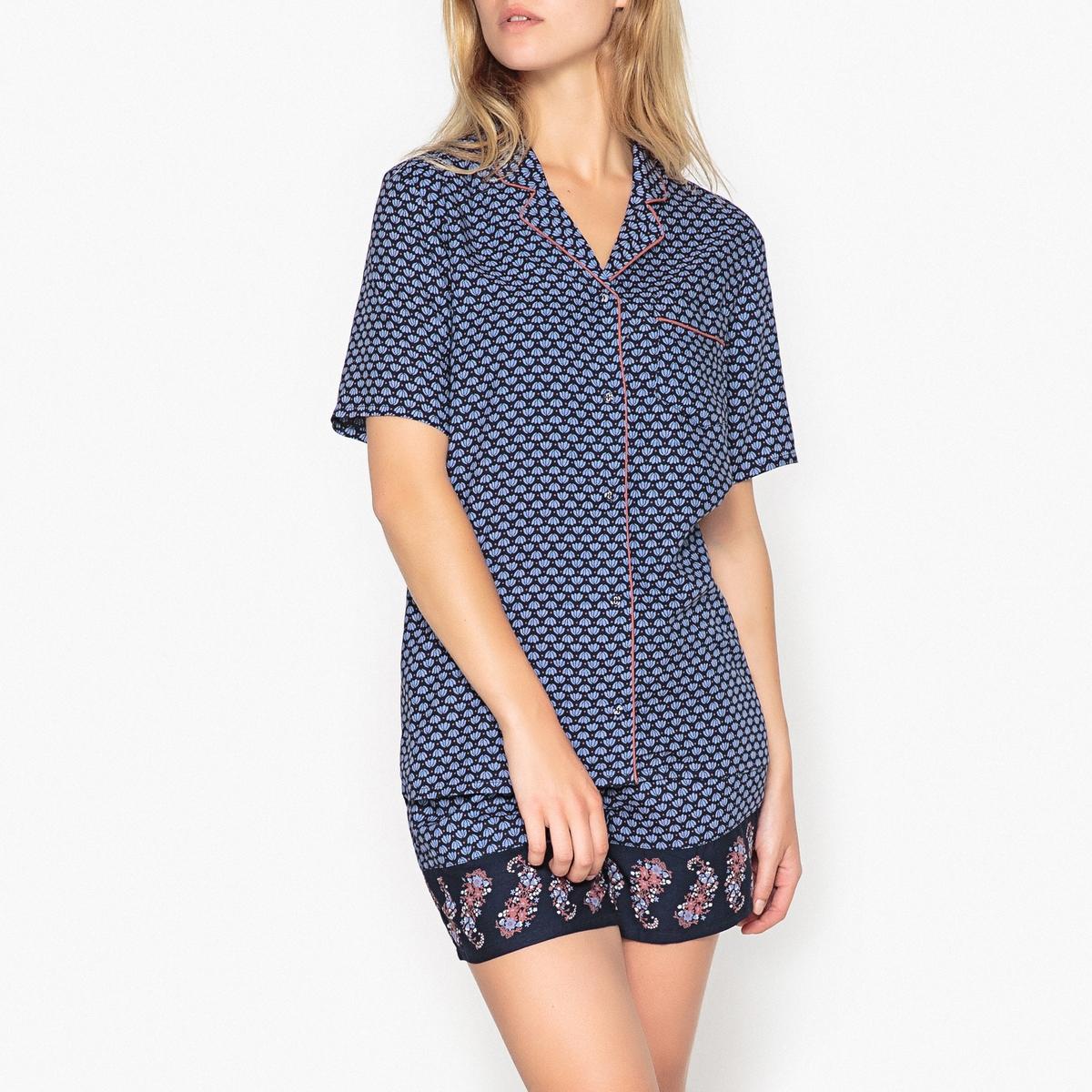 Пижама с шортами с рисунком цены онлайн