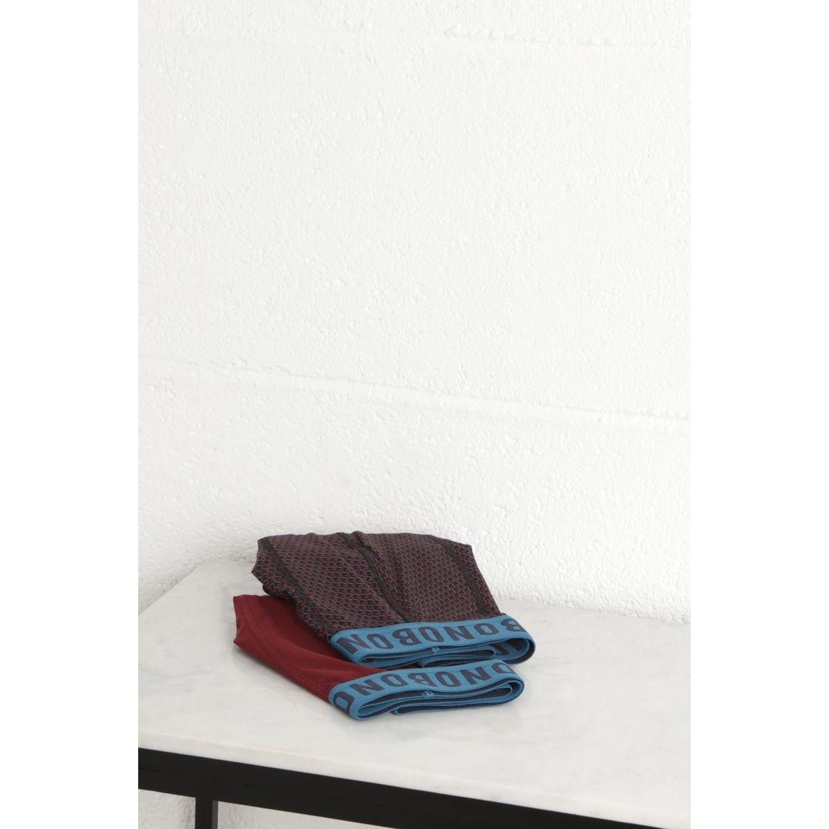 Lot 2 boxers coton motif  Instinct